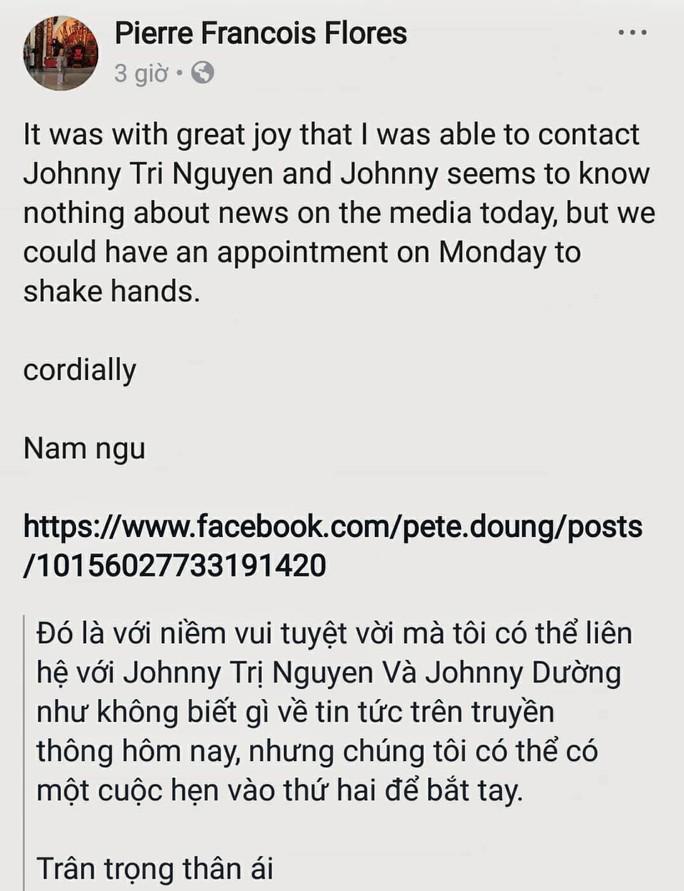 Không thể chạm trán Tuấn Hạc, Flores gặp Johnny Trí Nguyễn tại TP HCM - Ảnh 1.