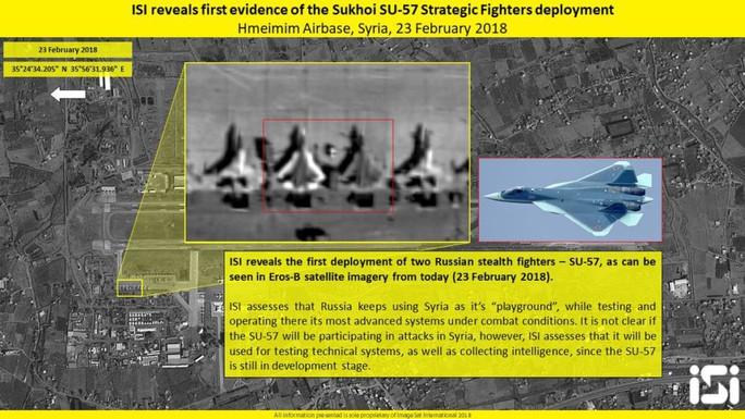Tiêm kích tàng hình Su-57 của Nga đang làm gì ở Syria? - Ảnh 1.