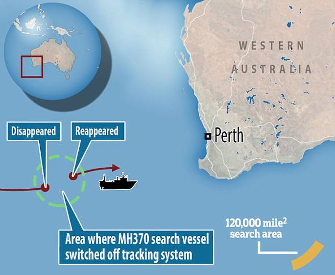 "Tàu tìm kiếm máy bay MH370 ""biến mất"" bí ẩn - Ảnh 2."