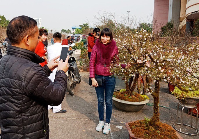 Mai trắng quý gây sốc với giá trăm triệu tại chợ hoa Tết đất cố đô - Ảnh 13.