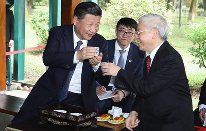Tổng Bí thư hai nước Việt, Trung trao đổi Thư mừng năm mới - Ảnh 1.