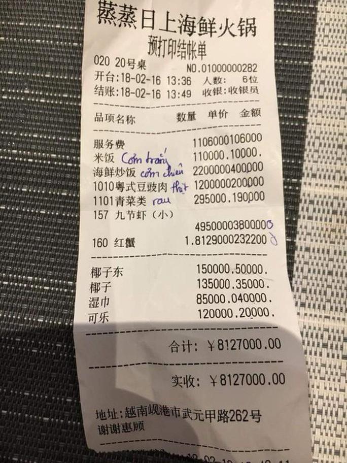 Từ cái phiếu tính tiền bằng tiếng Hoa, nghĩ về lòng yêu nước - Ảnh 1.