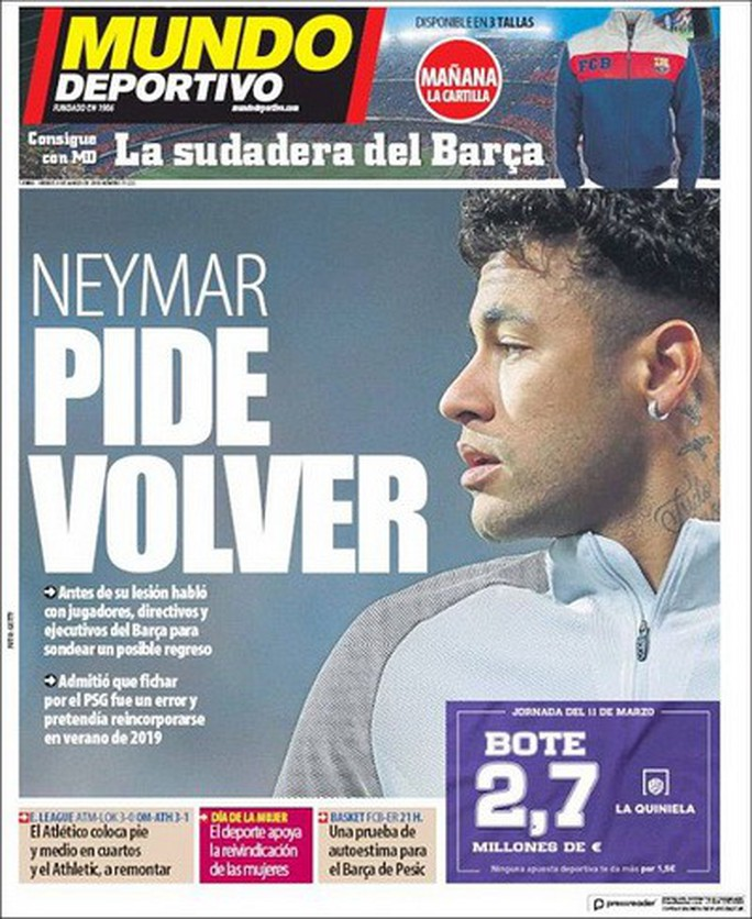 Neymar nhớ nhà, Barcelona chuẩn bị núi tiền đón cố nhân - Ảnh 1.