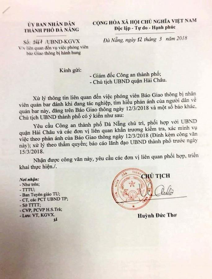 Chủ tịch Đà Nẵng yêu cầu công an xác minh việc phóng viên bị hành hung - Ảnh 1.