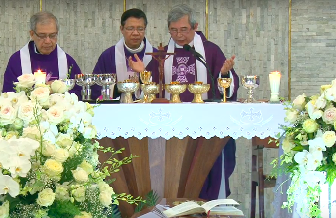 Hàng ngàn người đón linh cữu Tổng giám mục Phaolô Bùi Văn Đọc - Ảnh 2.