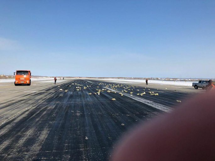 Nga: Rơi hơn 3 tấn vàng, máy bay hạ cánh khẩn cấp - Ảnh 1.