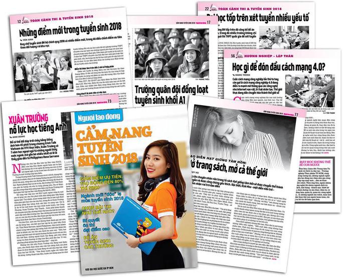 Cẩm nang Tuyển sinh 2018 của báo Người Lao Động đến tay độc giả - Ảnh 5.