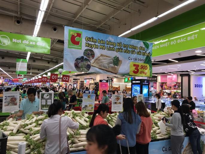 Hàng loạt siêu thị tham gia giải cứu củ cải, su hào - Ảnh 1.