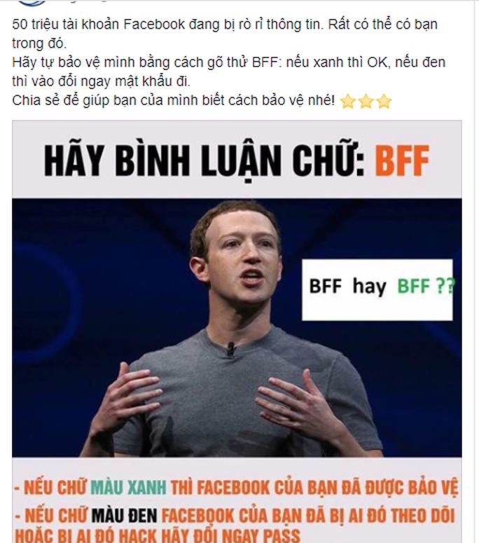 Sợ lộ thông tin cá nhân, dân mạng dính trò lừa comment BFF Facebook - Ảnh 1.