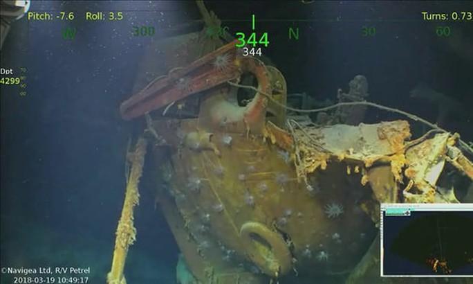 Tìm thấy tàu chiến Mỹ bị Nhật Bản đánh chìm trong Thế chiến II - Ảnh 3.