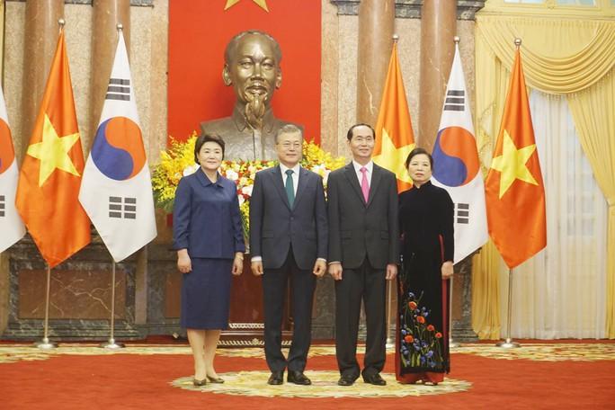 Cận cảnh lễ đón Tổng thống Hàn Quốc Moon Jae In tại Phủ chủ tịch - Ảnh 5.
