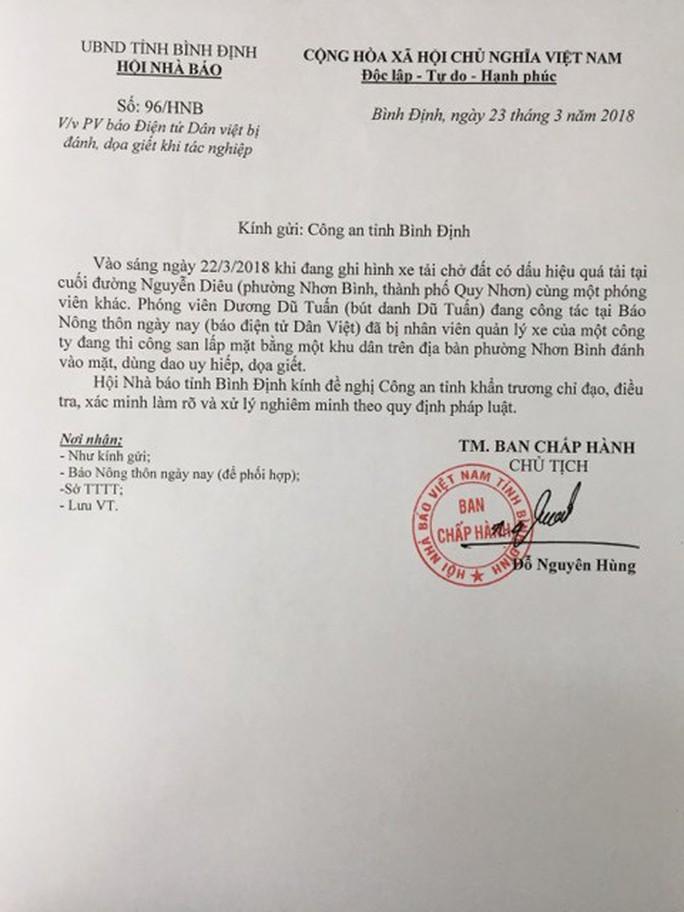 Vụ phóng viên bị dọa giết: Chủ tịch Hội Nhà báo đề nghị xử nghiêm - Ảnh 1.