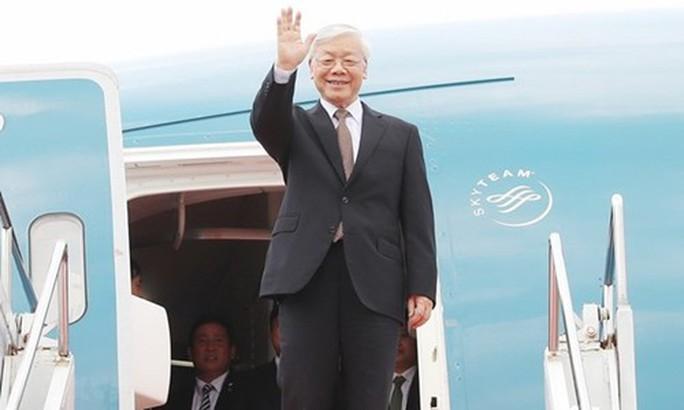 Tổng Bí thư Nguyễn Phú Trọng lên đường thăm Pháp - Ảnh 1.