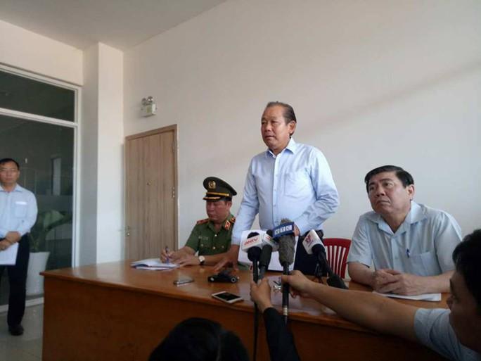 Phó Thủ tướng Trương Hòa Bình: Khẩn trương làm rõ vụ cháy chung cư Carina - Ảnh 1.