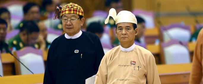 Tân tổng thống Myanmar là người nhà của bà Suu Kyi - Ảnh 1.