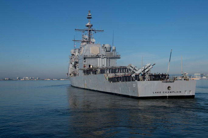 Video hoạt động của biên đội tàu sân bay Mỹ đang đến Đà Nẵng - Ảnh 5.