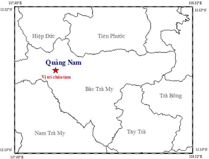 Động đất 3,4 độ richter ở Quảng Nam, người dân cảm nhận rung lắc - Ảnh 1.