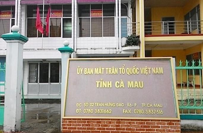 Bao che cấp dưới, Phó Chủ tịch Ủy ban MTTQVN tỉnh Cà Mau bị kỷ luật - Ảnh 1.