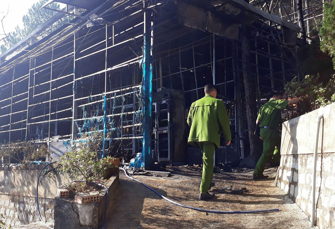 Cháy lớn tại Công ty Sâm Ngọc Linh Đà Lạt - Ảnh 3.