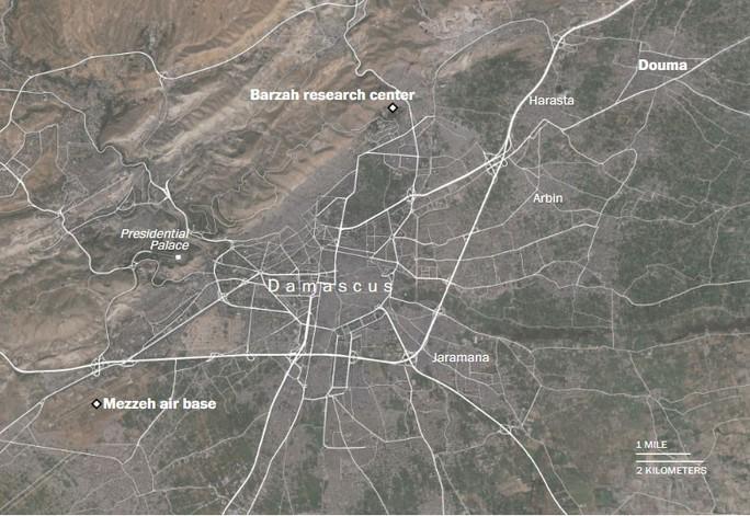 Chi tiết tình trạng các mục tiêu tại Syria sau cuộc không kích của Mỹ - Ảnh 2.