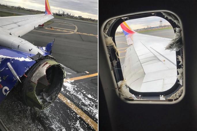 Mỹ: Máy bay nổ động cơ, hành khách cứu 1 phụ nữ suýt văng khỏi cửa sổ - Ảnh 1.