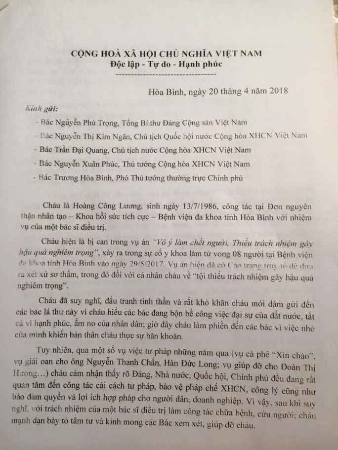 Vụ chạy thận 8 người tử vong: Bác sĩ Hoàng Công Lương gửi tâm thư tới Tổng Bí thư - Ảnh 2.
