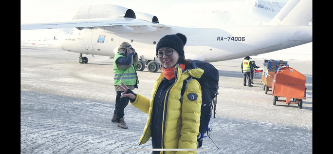 Bóng hồng Việt chạy marathon ở Bắc Cực - Ảnh 1.