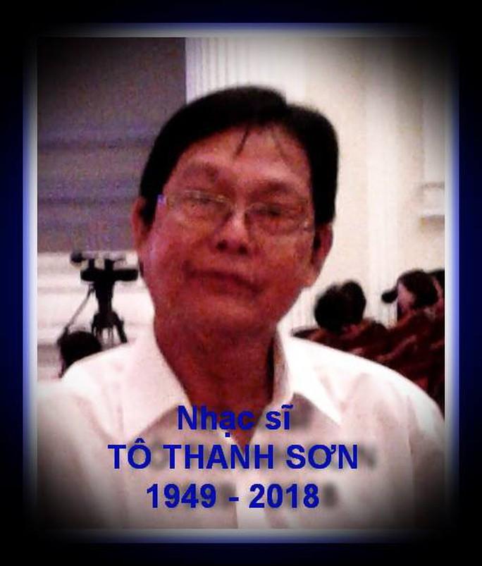 Nhạc Sĩ Tô Thanh Sơn từ trần vì bị ngộ độc thực phẩm - Ảnh 3.