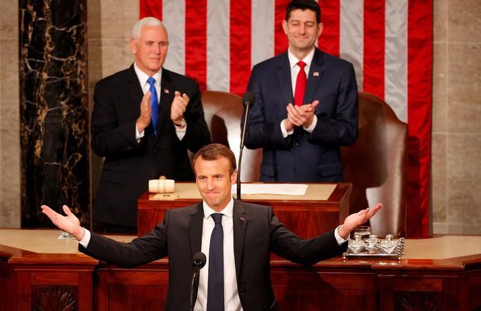 Tổng thống Pháp thách thức nhiều chính sách của ông Trump - Ảnh 1.