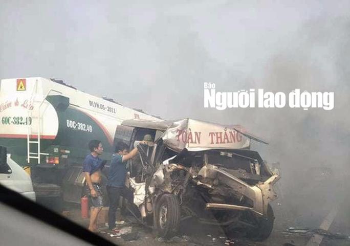 Tai nạn liên hoàn cao tốc Long Thành - Dầu Giây do đốt rác - Ảnh 1.