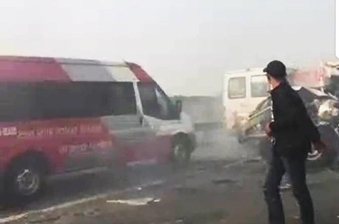 Tai nạn liên hoàn cao tốc Long Thành - Dầu Giây do đốt rác - Ảnh 3.