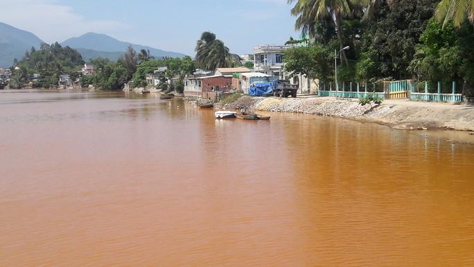 Đà Nẵng: Hơn 8km sông Cu Đê chuyển màu đỏ gạch, người dân lo lắng - Ảnh 3.