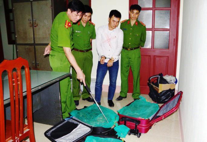 Cặp vợ chồng giấu 130 kg rắn hổ mang chúa trong va li kéo, ba lô - Ảnh 1.