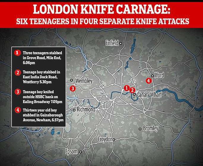 Đâm chém liên tiếp trong đêm, London báo động bạo lực đường phố - Ảnh 4.