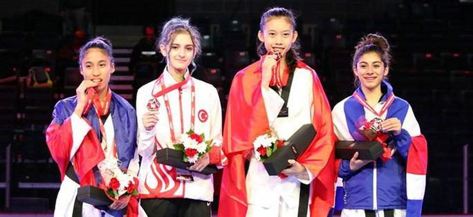 Kim Ngân giành vé cho taekwondo Việt Nam dự Olympic trẻ 2018 - Ảnh 3.