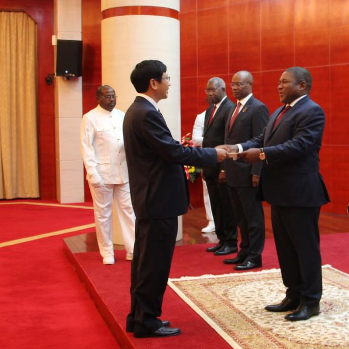 Cận cảnh Đại sứ Việt Nam trình Quốc thư lên Tổng thống Mozambique - Ảnh 2.