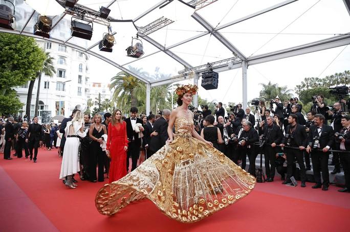 Những bộ đầm lạ mắt trên thảm đỏ Cannes - Ảnh 1.