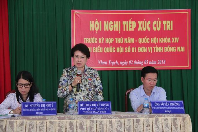 Bà Phan Thị Mỹ Thanh vẫn tiếp xúc cử tri với vai trò trưởng đoàn ĐBQH - Ảnh 1.
