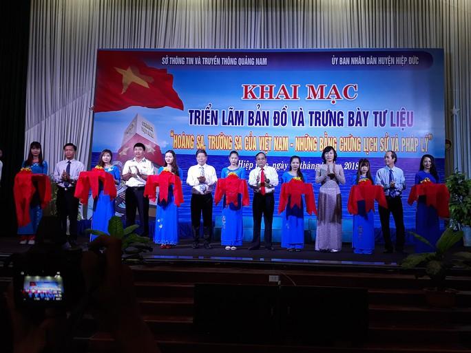 Triển lãm bản đồ, tư liệu khẳng định Hoàng Sa, Trường Sa của Việt Nam - Ảnh 1.