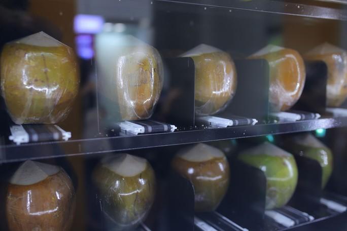 Người Sài Gòn thích thú với máy bán dừa tự động độc đáo - Ảnh 6.