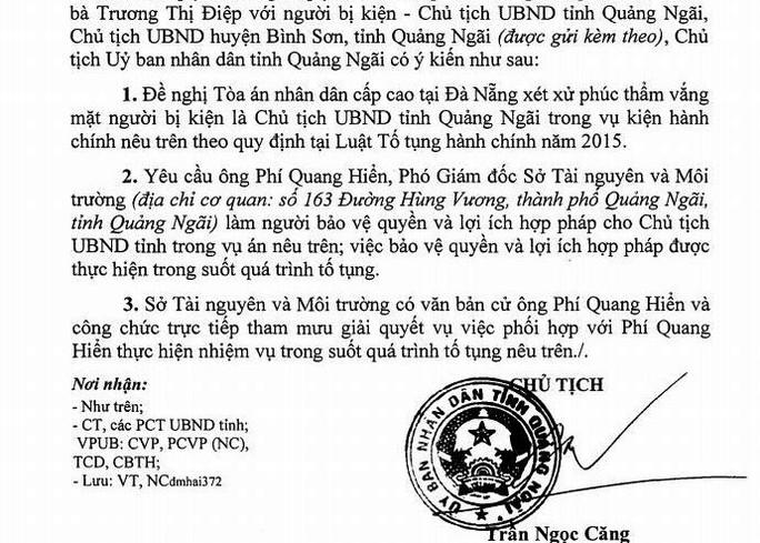 Chủ tịch tỉnh Quảng Ngãi bị kiện ra tòa 5 lần trong 1 tháng - Ảnh 2.