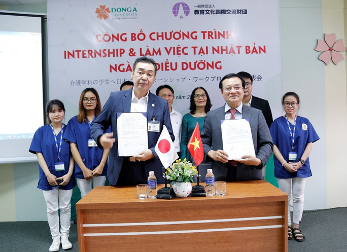 ĐH Đông Á và Học viện Giáo dục Nanakamado Nhật Bản ký kết hợp tác - Ảnh 1.