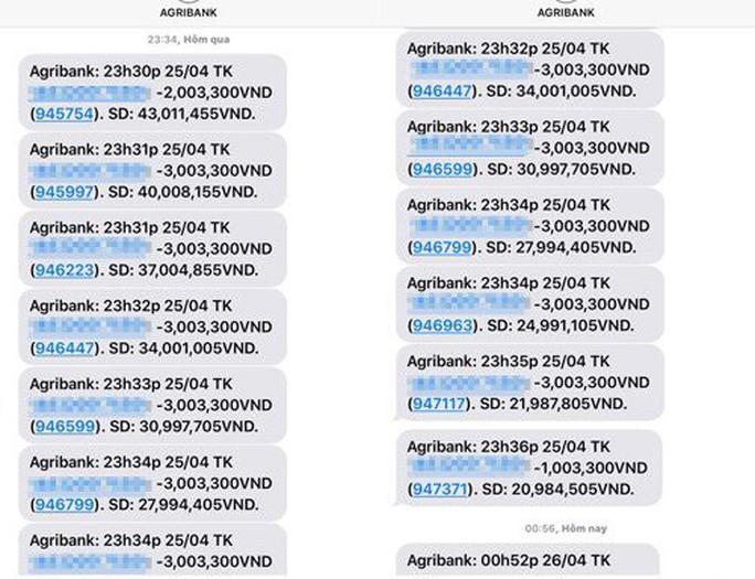 Vụ mất tiền trong ATM Agribank: 4 khách hàng chưa được bồi hoàn - Ảnh 2.