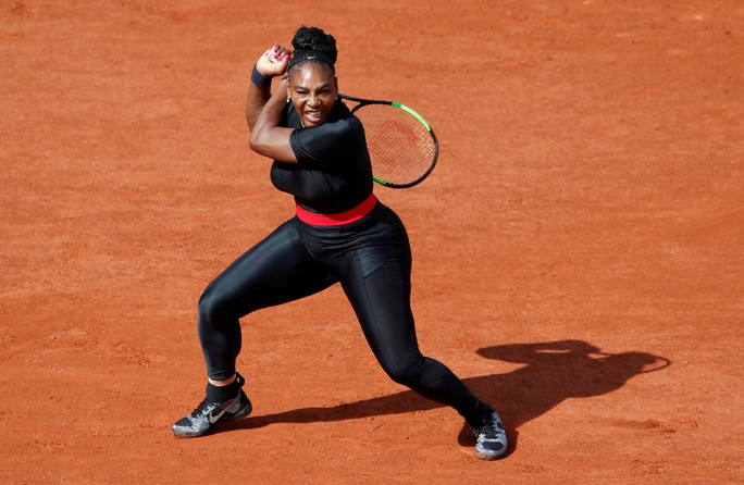 Clip Roland Garros 2018: Sharapova thắng nhọc, Serena hóa người mèo - Ảnh 7.