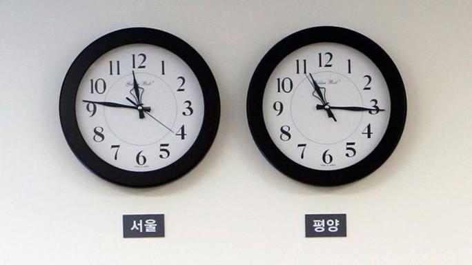 Triều Tiên chỉnh lại múi giờ lúc nửa đêm - Ảnh 1.