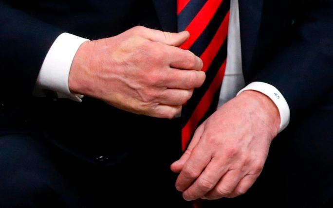 Ông Trump biến sắc sau cái bắt tay lạ lùng của bạn thân - Ảnh 2.