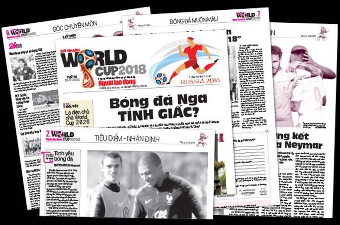 Hôm nay, phát hành Tin nhanh World Cup 2018 - Ảnh 1.