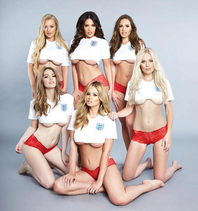6 mỹ nữ chụp ảnh nóng chúc Anh chiến thắng - Ảnh 1.