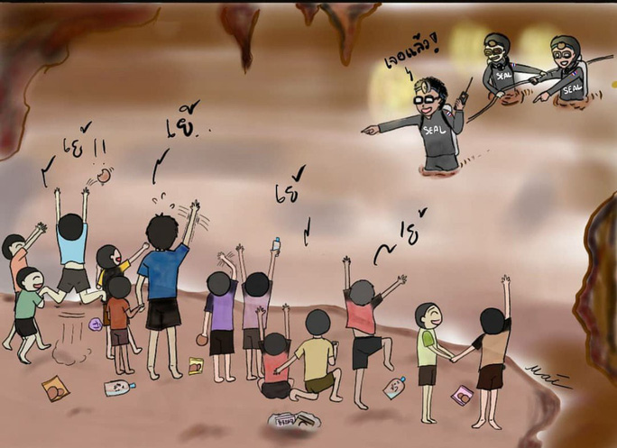 Thái Lan: Thả nhu yếu phẩm vào hang động, mong cứu sống đội bóng mất tích - Ảnh 8.