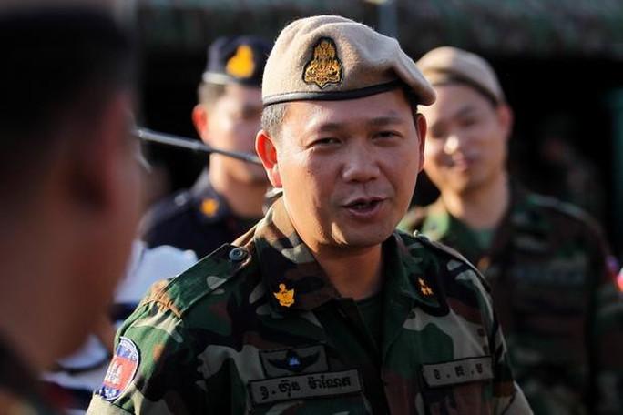 Con trai thủ tướng Campuchia được thăng tướng 4 sao - Ảnh 1.